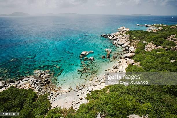 virgin gorda and fallen jerusalem islands - islas de virgin gorda fotografías e imágenes de stock