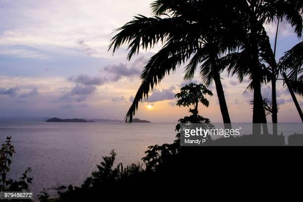virgin gorda silhouette - islas de virgin gorda fotografías e imágenes de stock