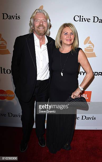 Virgin Group founder Richard Branson and Joan Templeman attend the 2016 Pre-GRAMMY Gala and Salute to Industry Icons honoring Irving Azoff at The...