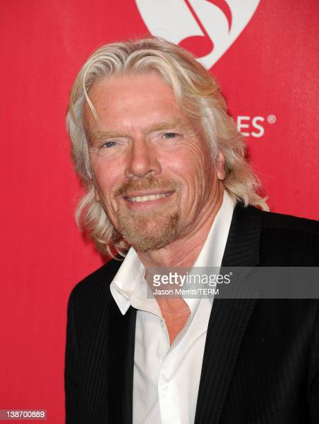 Virgin Group Ltd. Founder Sir Richard Branson arrives at the 2012 MusiCares Person of the Year Tribute to Paul McCartney held at the Los Angeles...