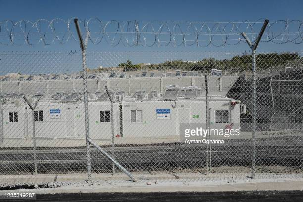 Virgin housing for asylum seekers, equipped with WiFi and solar panels, for people seeking asylum, protection and sanctuary in the European Union on...