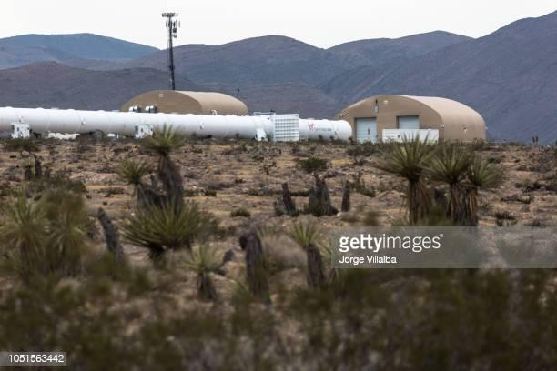 xp 1 のための最初の完全なテスト トラックを示すラスベガス ネバダ州そば処女 hyperloop 1 つのテスト サイト - ヴァージングループ ストックフォトと画像