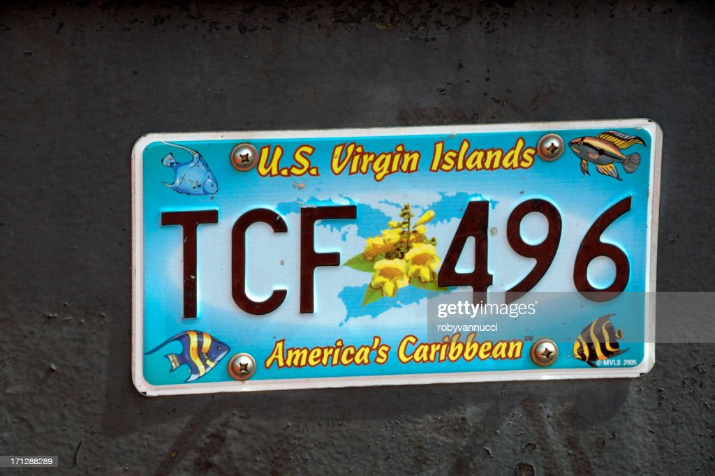 U.S. Virgin Islands license plate : Stock Photo