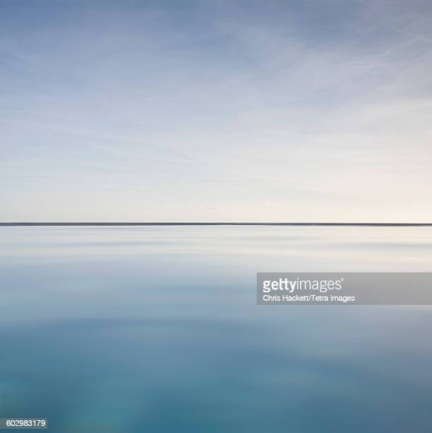 usa, virgin islands, scenic view of calm sea - horizonte fotografías e imágenes de stock