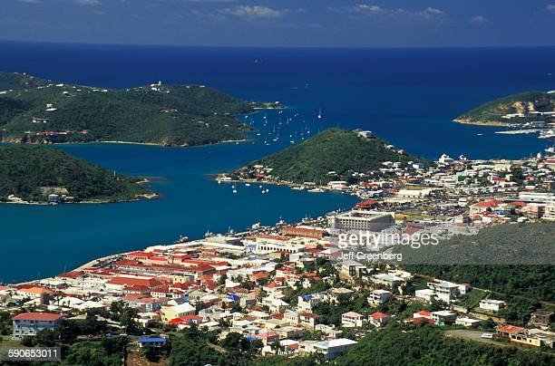 Virgin Islands St Thomas Charlotte Amalie and Harbor Scenic View Of Residences and Harbor