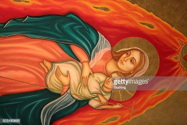 Virgin Mary and child Saint Anthony of Padua church