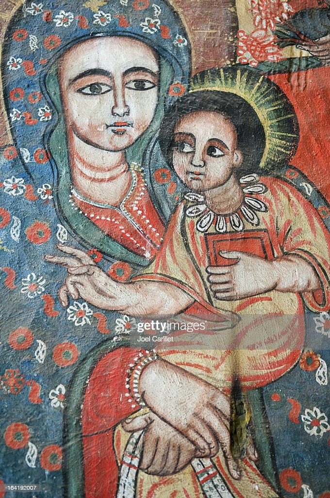 Virgin Mary and Jesus - Ethiopia : Stock Photo