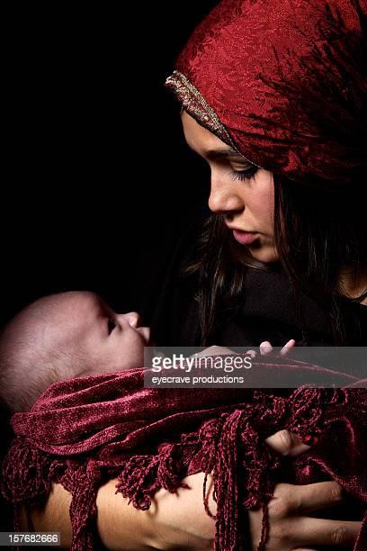 Jungfrau Maria und baby Jesus Christus geboren Christmas
