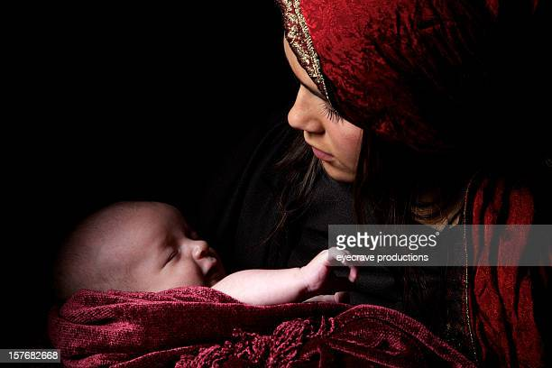 virgin mary baby jesus christ born christmas - jesus birth stock pictures, royalty-free photos & images