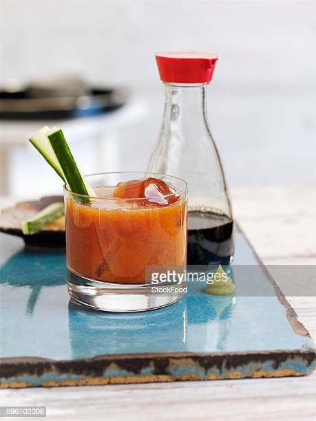 virgin mary cocktail - wasabi stock pictures, royalty-free photos & images