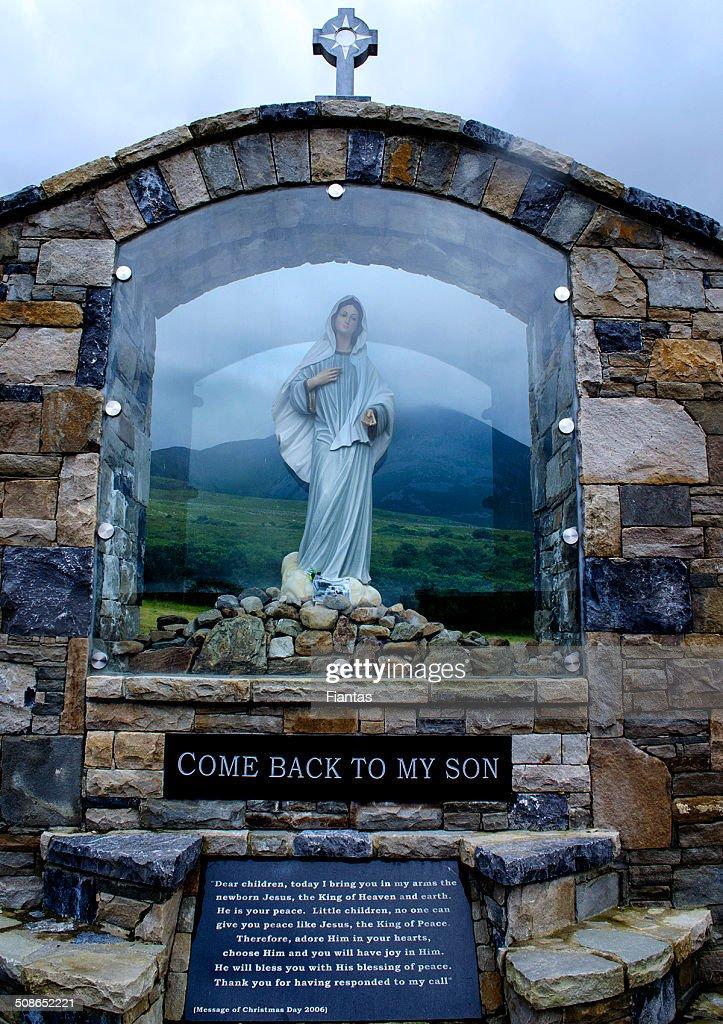 Virgin Mary Statue at Croagh Patrick, Co. Mayo, Ireland : Stock Photo