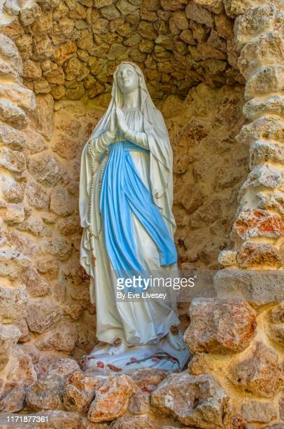virgin mary statue - jerez de la frontera stock pictures, royalty-free photos & images