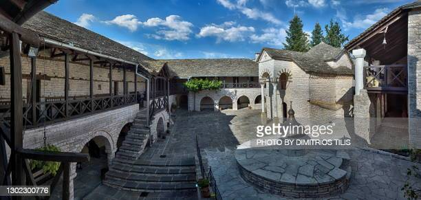 virgin mary tsoukas monastery panorama - dimitrios tilis stock pictures, royalty-free photos & images