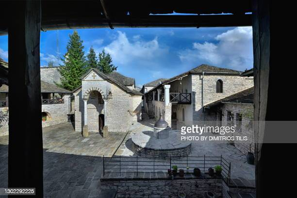 virgin mary tsoukas monastery - dimitrios tilis stock pictures, royalty-free photos & images