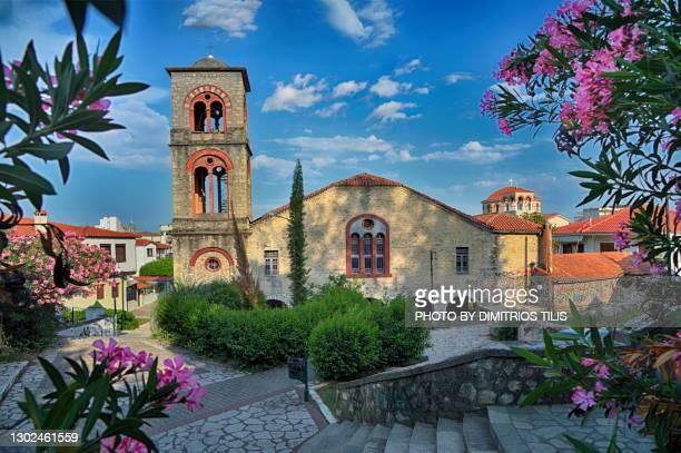 virgin mary's birth church varousi trikala greece (hellas) - dimitrios tilis stock pictures, royalty-free photos & images
