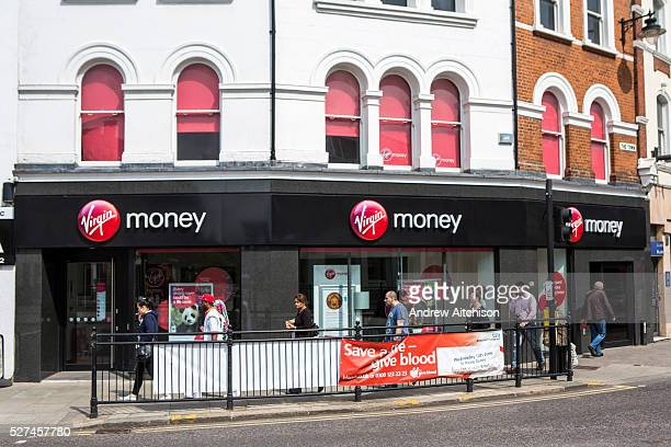 Virgin money high street branch, Enfield, London.