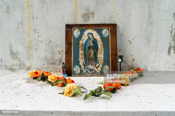 a virgin of guadalupe shrine in mazatlán sinaloa mexico - shrine stock pictures, royalty-free photos & images