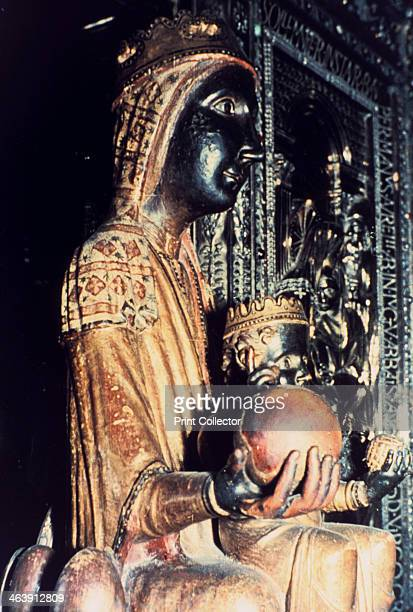 Virgin of Montserrat, Catalonia, Spain. This Black Madonna in the Benedictine Abbey of Montserrat is said to have been carved by St Luke. The...