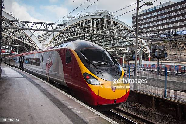 virgin pendolino - train stock photos and pictures
