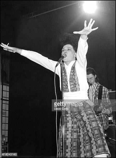 Virgin Prunes Gavin Friday and Dik Evans performing at ICA London UK 1979