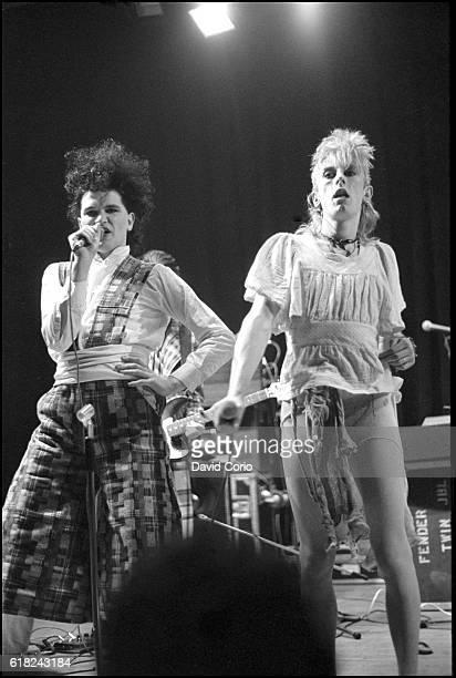 Virgin Prunes Gavin Friday and Guggi performing at ICA London UK 1979