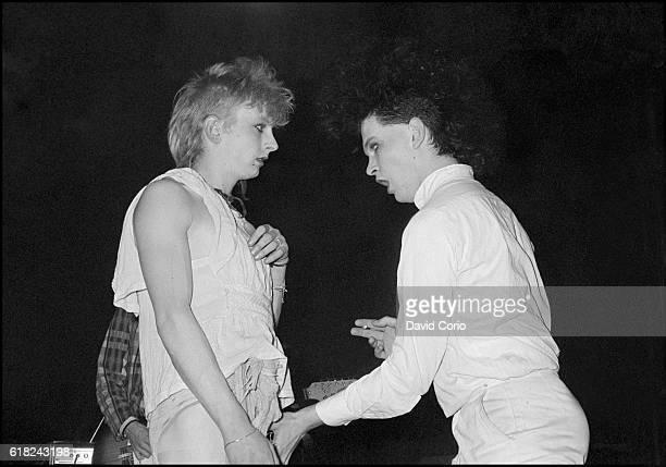 Virgin Prunes Guggi and Gavin Friday performing at ICA London UK 1979