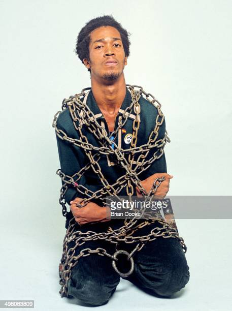 Virgin Records' Front Line label reggae artist UBrown photographed in London on 17th August 1978 for his album You Can't Keep A Good Man Down