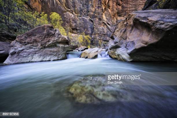 Virgin River Through Zion Canyon