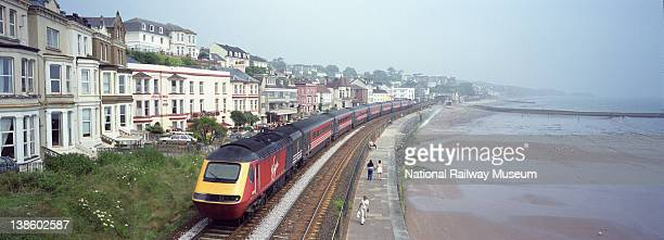 Virgin Trains Class 43 High Speed Train 125 diesel locomotive at Dawlish Devon June 2000 This section of track runs along the sea front and is often...