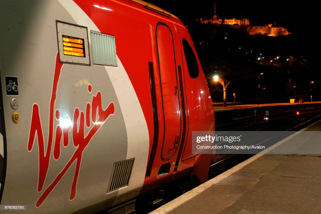 A Virgin Trains Cross Country Edinburgh to Aberdeen service awaits