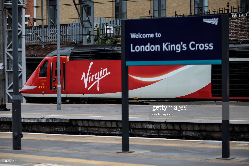 A Virgin Trains East Coast train sits at Kings Cross Station on May 16, 2018 in London, England. East Coast trains are to be brought back under state control after Stagecoach and Virgin suffer a revenue shortfall on the £3.3bn contract to run the franchise.