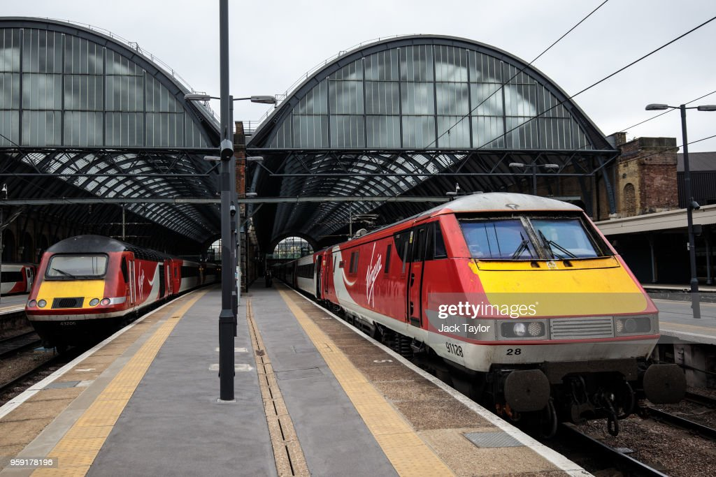 Virgin Trains East Coast trains sit at Kings Cross Station on May 16, 2018 in London, England. East Coast trains are to be brought back under state control after Stagecoach and Virgin suffer a revenue shortfall on the £3.3bn contract to run the franchise.