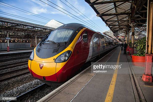 virgin trains pendolino - crewe stock pictures, royalty-free photos & images