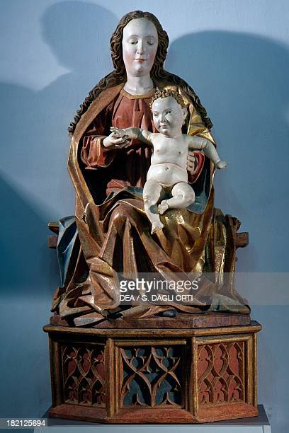 Virgin with Child Hans Klocker's workshop polychrome wood sculpture Bressanone Museo Diocesano
