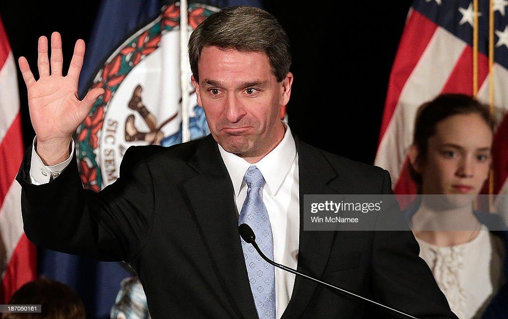Gubernatorial Candidate Attorney General Ken Cuccinelli Attends Election Night Gathering : News Photo