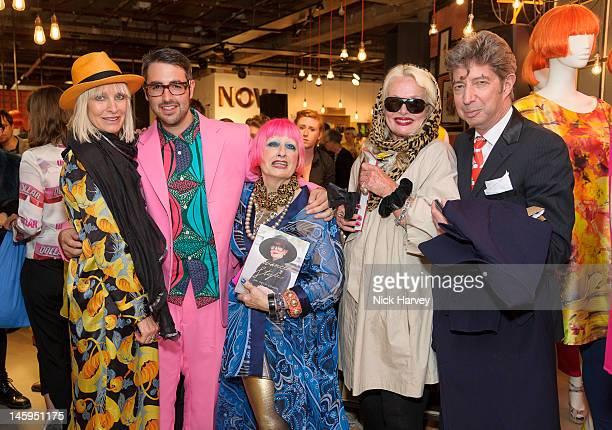 Virginia Bates Ari Seth Cohen Zandra Rhodes Jibby Beane and Duggie Fields attend the launch of Advanced Style hosted by Mary Portas and Ari Seth...