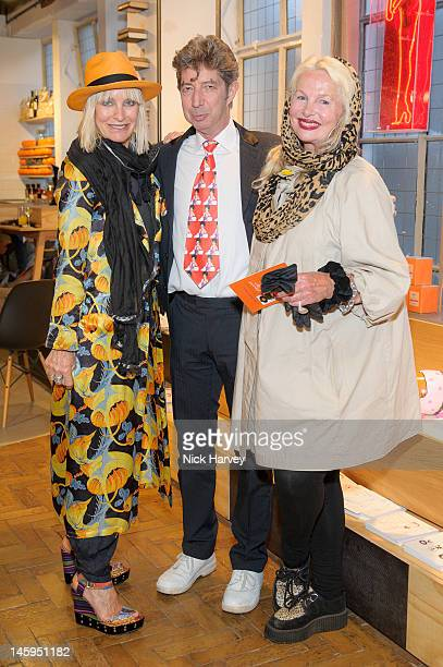Virginia Bates Duggie Fields and Jibby Beane attend the launch of Advanced Style hosted by Mary Portas and Ari Seth Cohen at Mary's Shop House of...