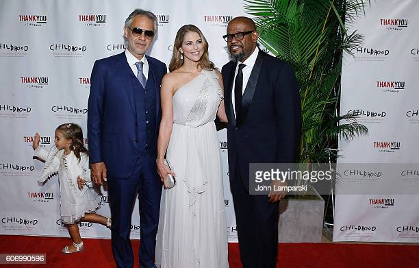 Virginia Bocelli Artist Andrea Bocelli HRH Princess Madeleine and Forest Whitaker attend World Childhood Foundation USA Thank You Gala 2016 at...