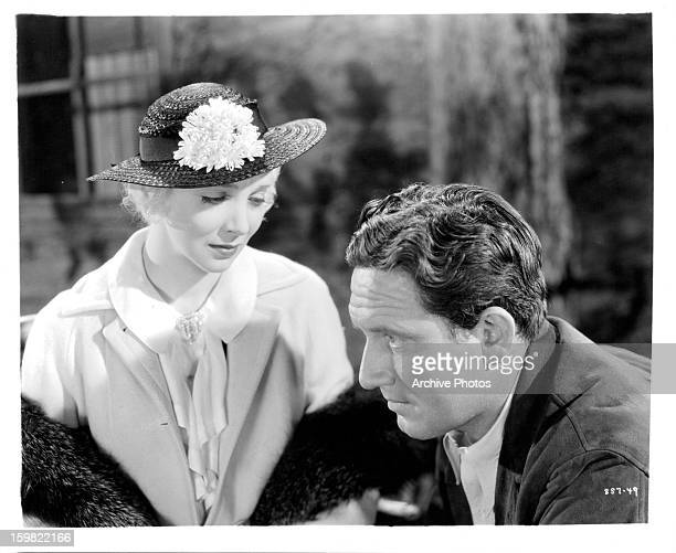 Virginia Bruce and Spencer Tracy in a scene from the film 'Murder Man' 1935
