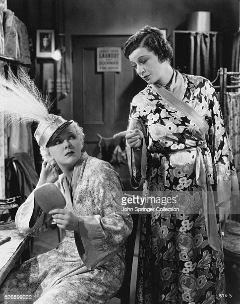 Virginia Bruce as Audrey Dane and Fanny Brice as herself in the 1936 film The Great Ziegfeld