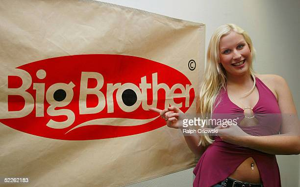 """Virginia, candidate of the new """"Big Brother Village"""" tv-season, is seen at the Big Brother Press Conference at Colosseum on March 1, 2005 in Cologne,..."""