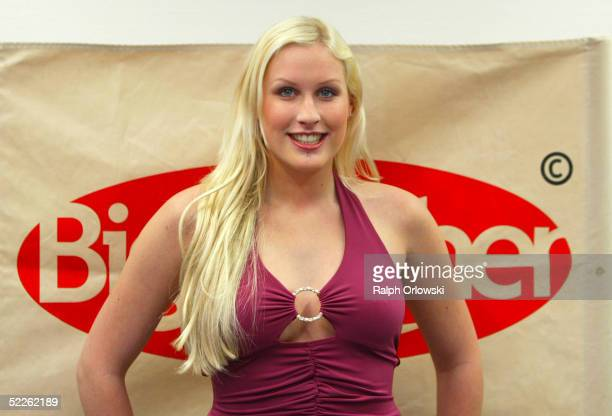 Virginia candidate of the new Big Brother Village tvseason is seen at the Big Brother Press Conference at Colosseum on March 1 2005 in Cologne Germany