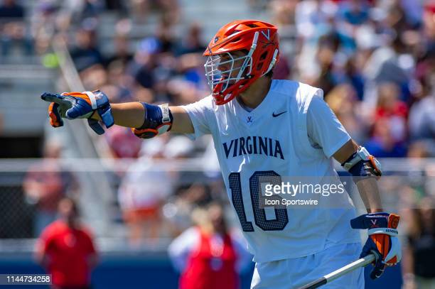 Virginia Cavaliers Defenseman Kyle Kology reacts during the second half of the NCAA Lacrosse Championships quarterfinals game between the Virginia...