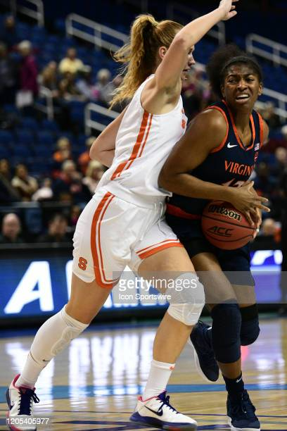 Virginia Cavaliers guard Jocelyn Willoughby drives to the basket during the ACC Women's Tournament game between the Syracuse Orange and the Virginia...