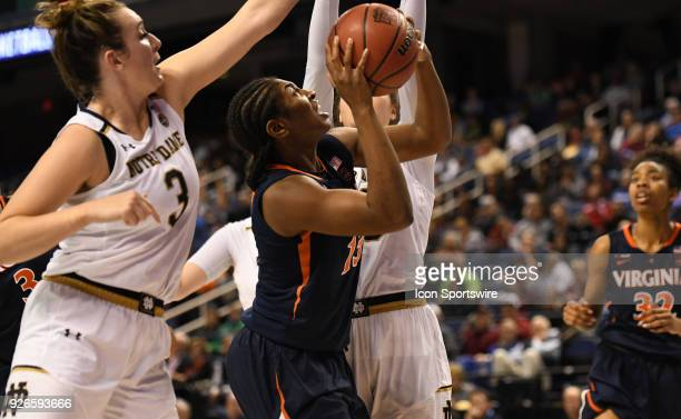 Virginia Cavaliers guard Jocelyn Willoughby shoots during the ACC women's tournament game between the Virginia Cavaliers and the Notre Dame Fighting...