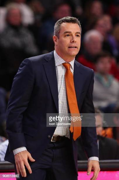 Virginia Cavaliers head coach Tony Bennett watches his defense against the Wake Forest Demon Deacons during the ACC matchup on January 21 2018...