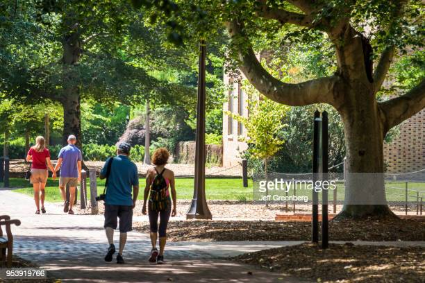 Virginia Colonial Williamsburg College of William and Mary historic campus walkway with students