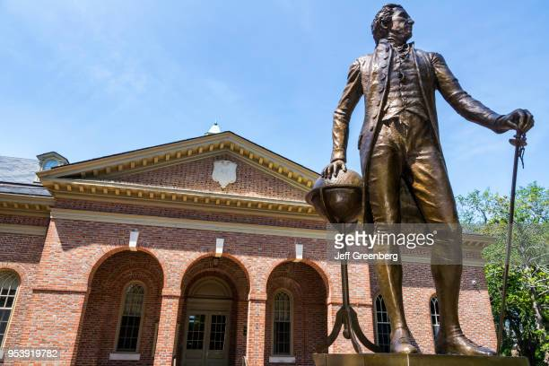 Virginia Colonial Williamsburg College of William and Mary Tucker Hall President James Monroe statue