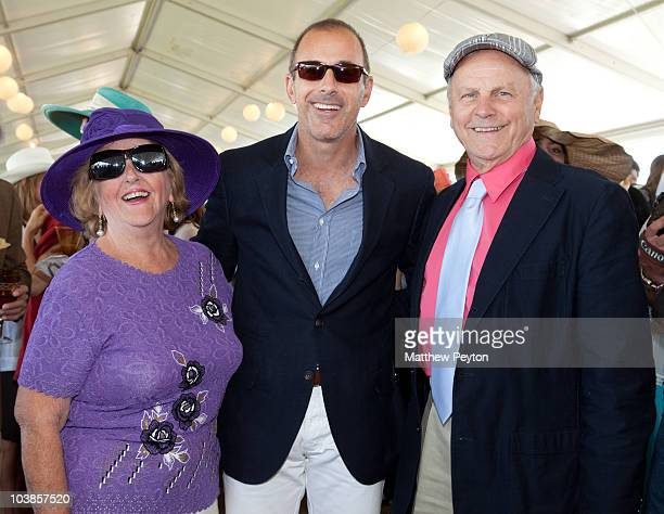 R] Virginia Comley Matt Lauer and James Comley attend the 35th Annual Hampton Classic Horse Show at the Hampton Classic Horse Show grounds on...