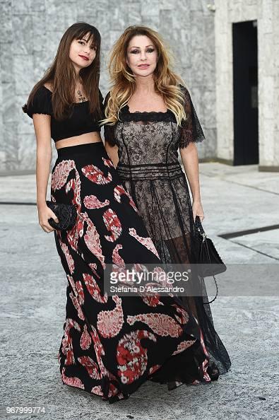 Virginia De Benedetti And Paola Ferrari Arrive At Convivio 2018 On Nachrichtenfoto Getty Images
